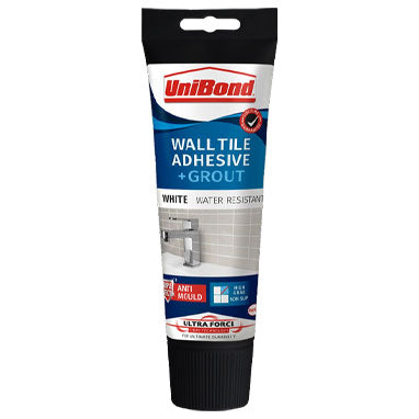 UniBond Wall Tile Adhesive + Grout 300g Tub White