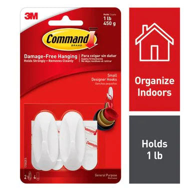 3M Command 17082 Small Oval Hooks