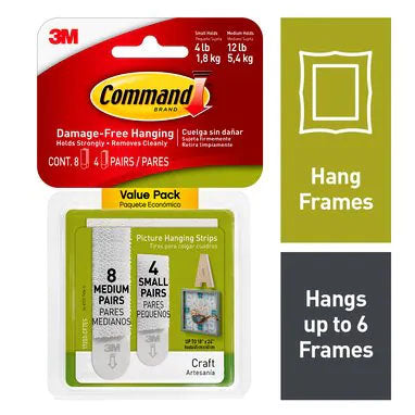 Command 17203 Small & Medium Picture Hanging Strips