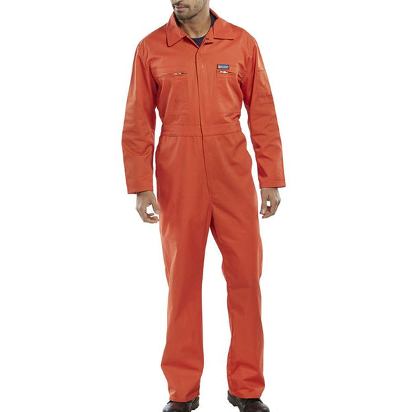 Super B-Click Workwear Orange Boiler Suit