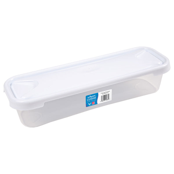 Wham Cuisine Clear/Ice White Food Box & Lid 1.2 Litre