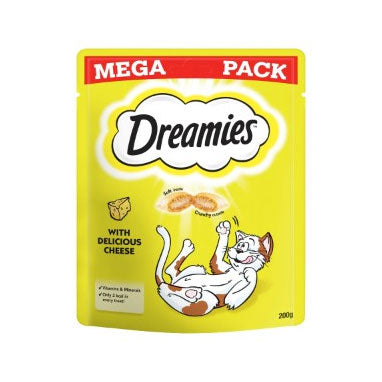 Dreamies Cat Treats with Cheese Mega Pack 6 x 200g {Full Case}