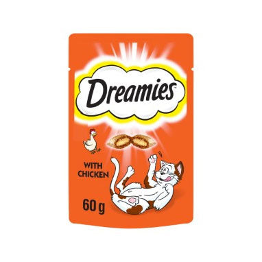 Dreamies Cat Treats with Chicken 8 x 60g {Full Case}