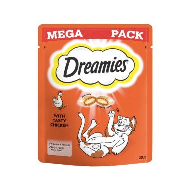 Dreamies Cat Treats with Chicken Mega Pack 6 x 200g {Full Case}