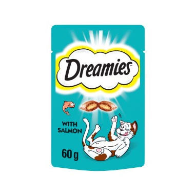 Dreamies Cat Treats with Salmon 8 x 60g {Full Case}