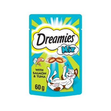 Dreamies Mix Cat Treats with Salmon and Tuna 8 x 60g {Full Case}