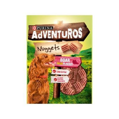 Adventuros Dog Treats Nuggets Boar Wild 90g