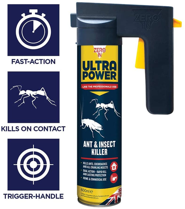 Zero-in Ultra Power Ant & Insect Killer 600ml (ZER554)