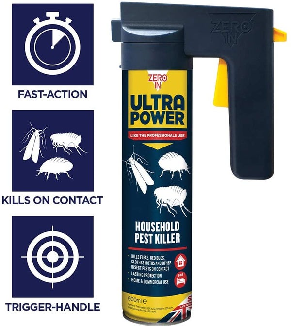 Zero-in Ultra Power Household Pest Killer 600ml (ZER558)