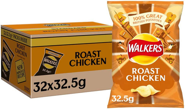 Walkers Roast Chicken Crisps Pack 32's