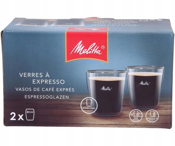 Melitta Espresso Glass Set 0.08 Litre Pack 2's