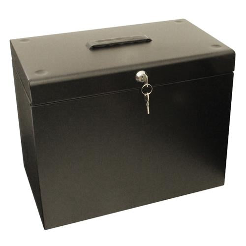Cathedral A4 Black Metal File Box