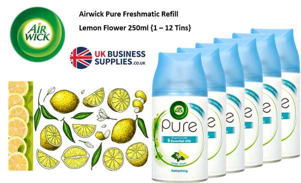 AirWick Freshmatic Refreshing Lemon Flower Refill 250ml {1-12 Tin Offer}