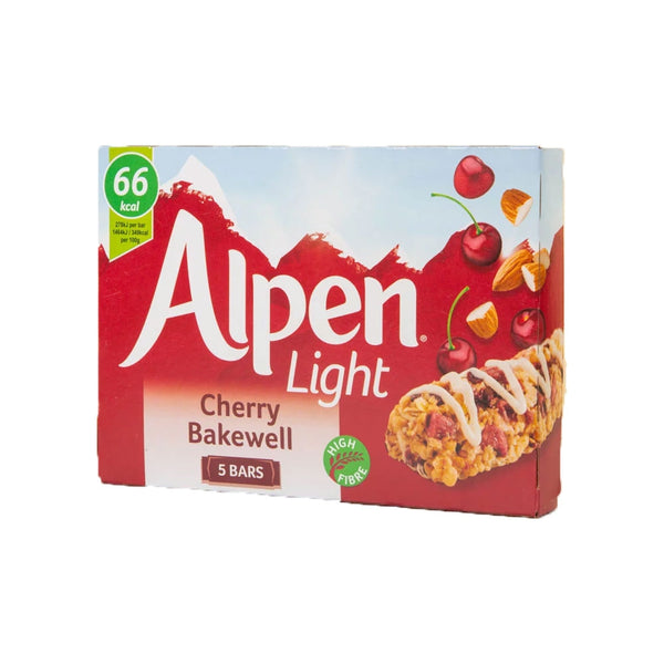 Alpen Light Bar Cherry Bakewell 5 X 19g (Full Pack 10's)