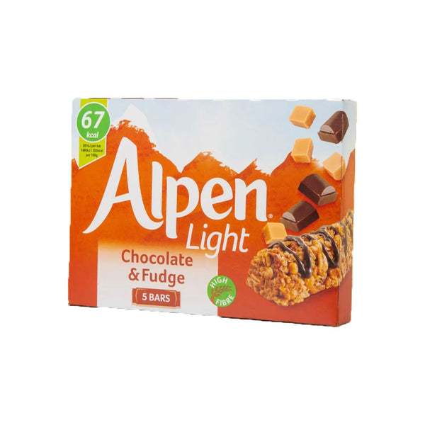 Alpen Light Chocolate And Fudge Bar 5 X 19g (Full Pack 10's)
