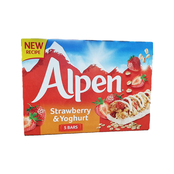 Alpen Strawberry With Yogurt Cereal Bar 5 X 29g (Full Pack 10's)