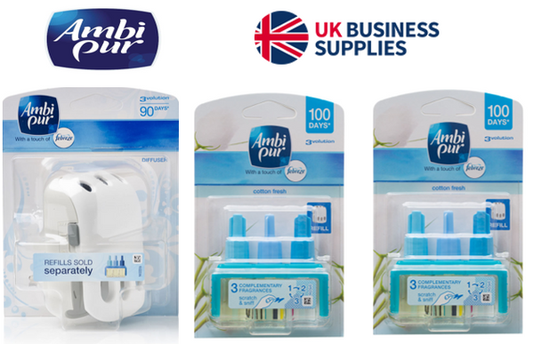 2 x Ambi Pur 3volution Cotton Fresh plus 1 x Plug in {Starter Pack}