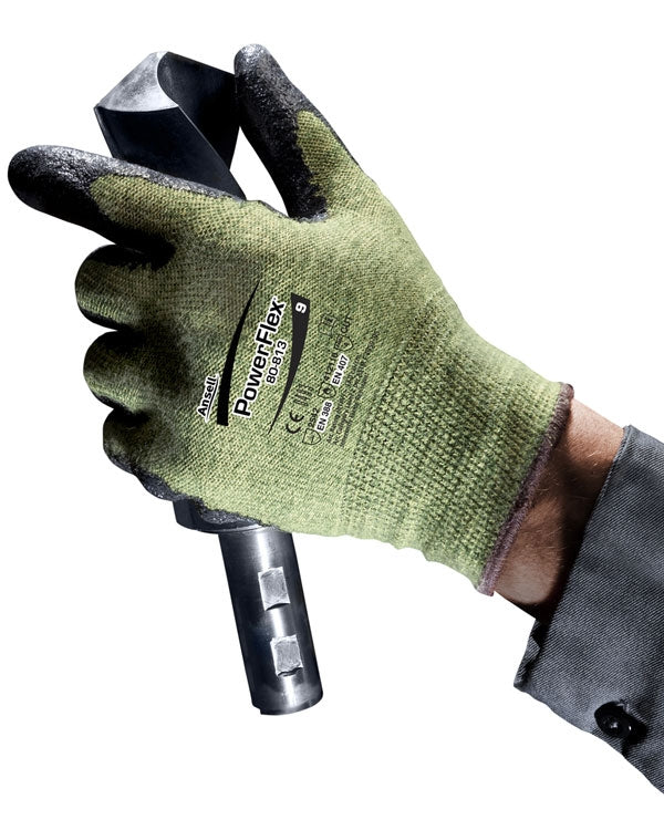 Ansell Power Flex 80-813 DuPont Kevlar Glove with Black Proprietary Soft Palm (Pair)