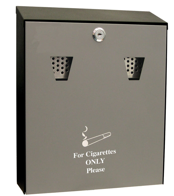 Cathedral (3.1 litre) Lockable Steel Ash & Cigarette Bin (Black)