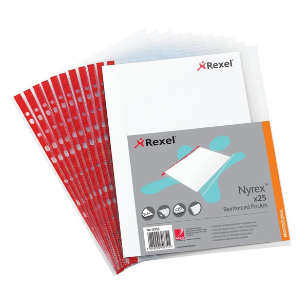 Rexel Nyrex A4 90 Micron Side Open Pockets Pack 25's
