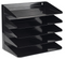 Avery 5-Tier Steel Letter Rack (Black)