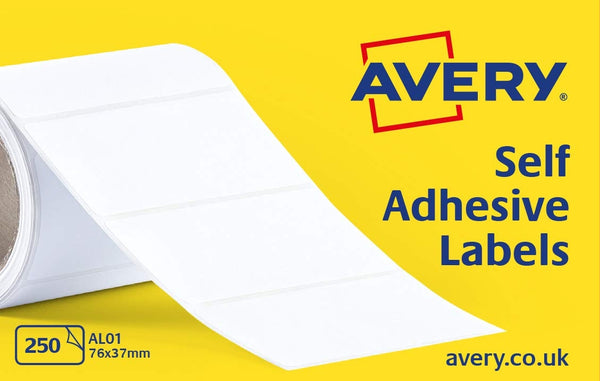 Avery Self Adhesive Address Mailing Labels 76 x 37mm 250 Per Roll AL01