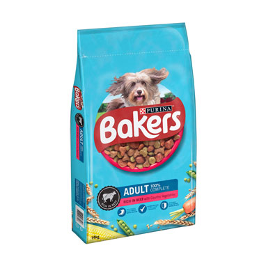 Bakers Adult Beef Dry Dog Food 14kg