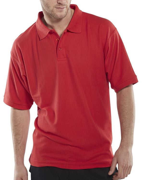Basic Polo Shirt RED {All Sizes}
