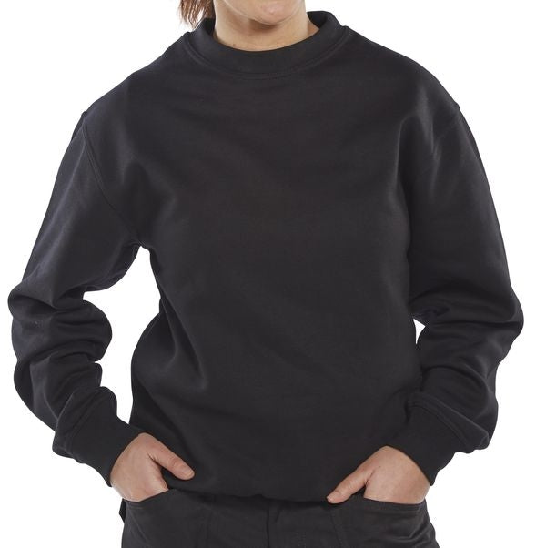 B-Click Workwear Black Crew Necked Sweatshirt {All Sizes}