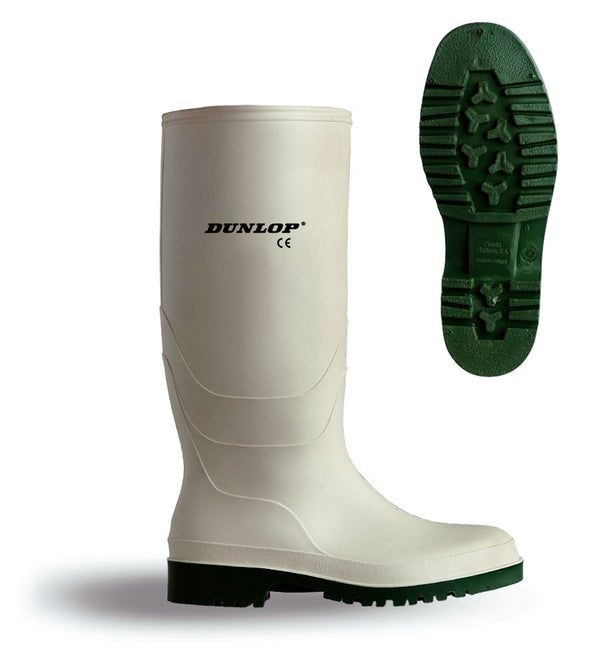 Dunlop Pricemastor White Boots {All Sizes}