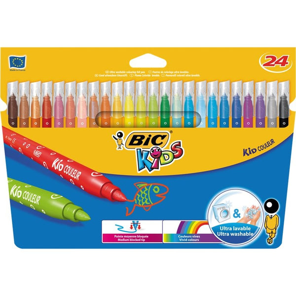 Bic Kids Couleur Assorted Felt Pens (841800) Pack 24's