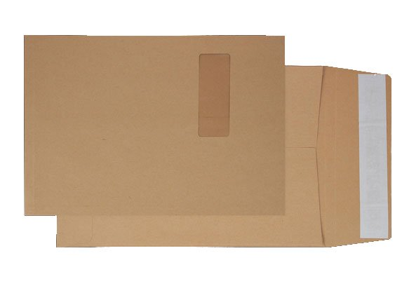 Blake (C4) Peel and Seal Window Pocket Envelopes (Manilla) Pack of 125
