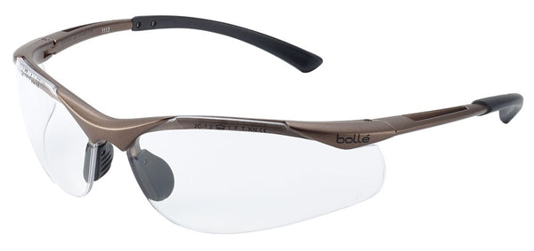 Bolle BOCONTPSI Contour Platinum Clear Safety Glasses