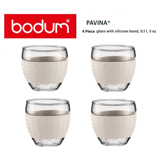 Bodum Pavina Off White Glass Set 0.1 Litre Pack 2's