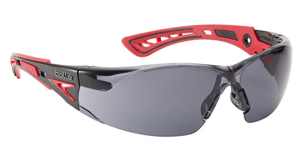 Bolle Safety Rush Platinum Smoke Glasses
