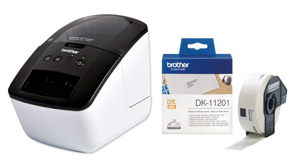 Brother QL-700 Labelmaker Thermal USB Auto-cut 300dpi Max Width 62mm 93 Labels/minute Ref QL700