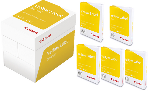 Canon Yellow Label White Copier Paper A4 80gsm White 1 Box 5 Reams OFFER!