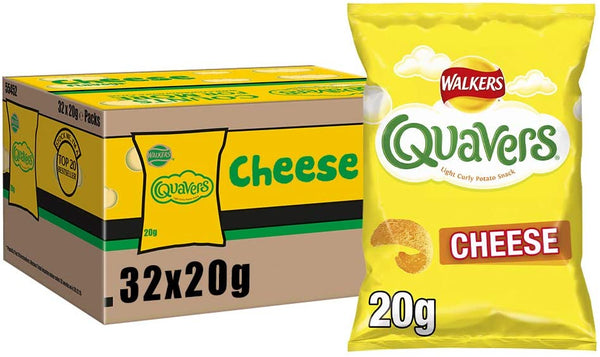 Walkers Quavers 20g (Pack of 32)