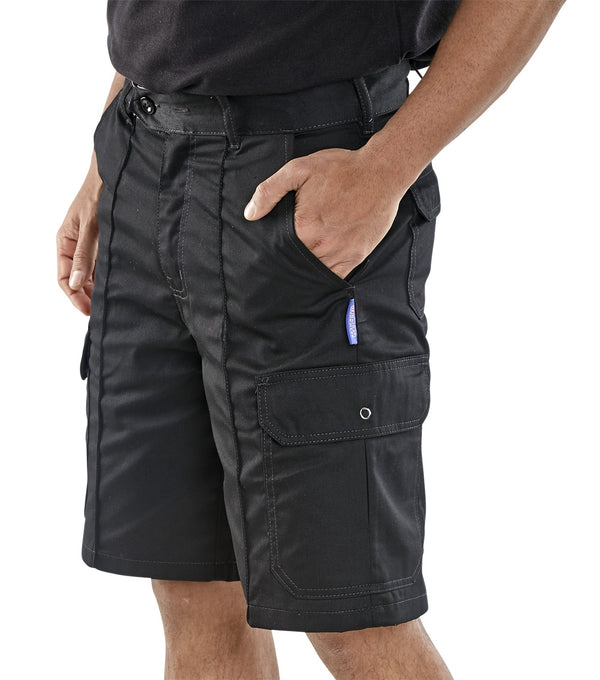 Super B-Click Workwear Black Shorts {All Sizes}