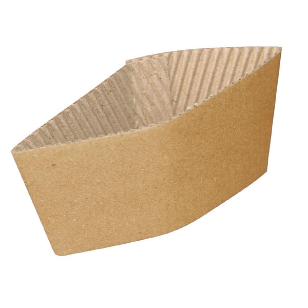 8oz Kraft Paper Cup Sleeves x 100