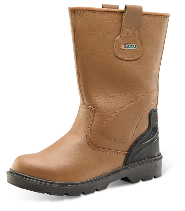 B-Click Footwear Tan Rigger Boots {All Sizes}