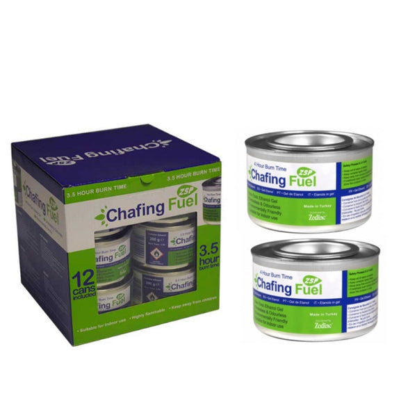 "Chafing ""Ethanol"" Fuel 3.5hrs 12 Tins Non-toxic {Indoor & Outdoor}"