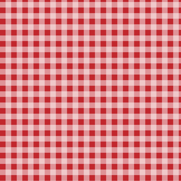 Greaseproof Red Gingham Paper 250x200mm Pack 100's