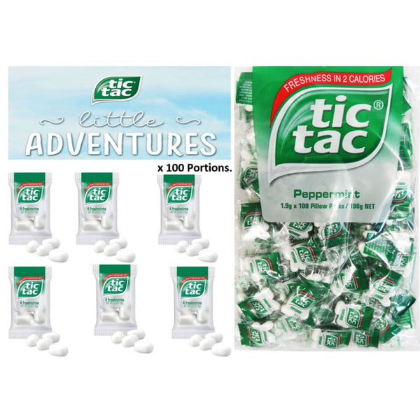 Tic Tac Pillow Pack 100's {100 Tic Tac Portions Per pack}