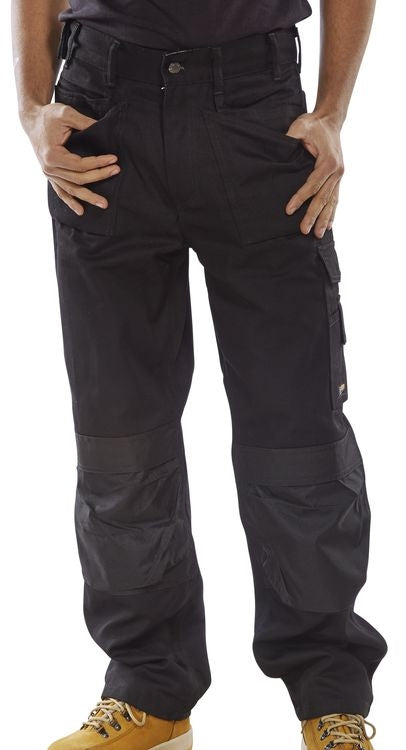 B-Click Workwear Premium Black Cargo Trousers {All Sizes}