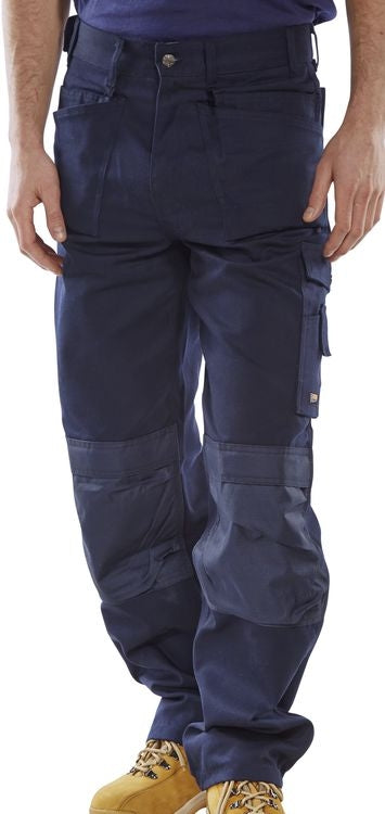 Click Premium Cargo Trousers with Duratex Knee Pads BLUE {All Sizes}
