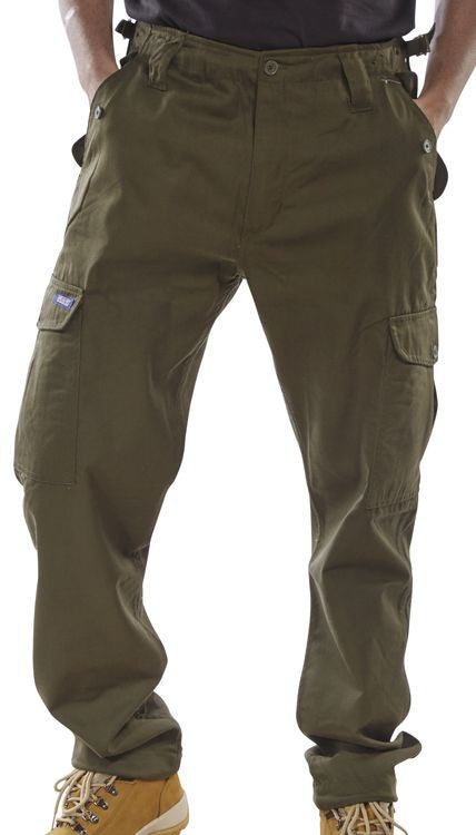 Workwear Combat Trousers Khaki/Olive (All Sizes)