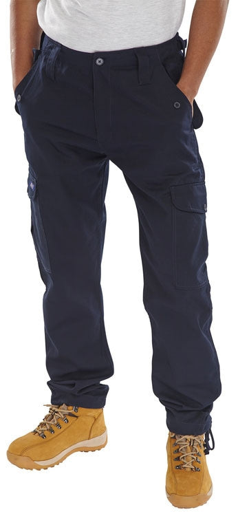 B-Click Workwear Navy Combat Trousers (All Sizes)
