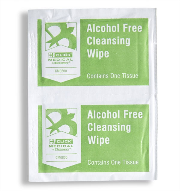 Click Medical Alcohol Free Wipes x 100 Sachets