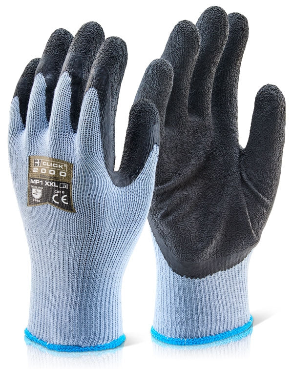 B-Click 2000 Black/Blue Latex Gloves 10's (All Sizes)
